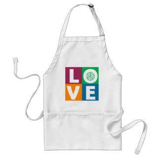 VolleyChick Love Adult Apron