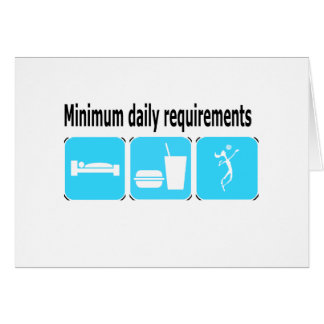 VolleyChick Minimum Daily Requirements Cards