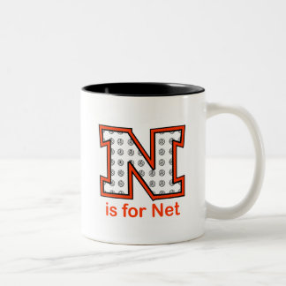 VolleyChick N is for Net Two-Tone Coffee Mug