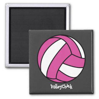 VolleyChick (personalizable) Imán Cuadrado