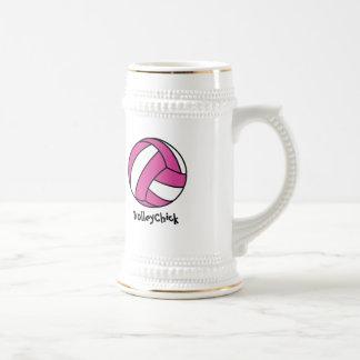 VolleyChick (personalizable) Jarra De Cerveza