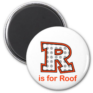 VolleyChick R is for Roof Magnet