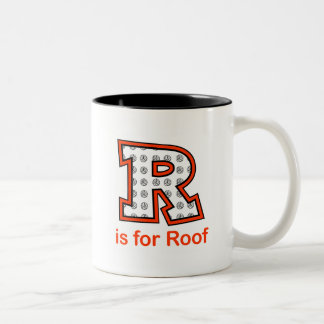 VolleyChick R is for Roof Two-Tone Coffee Mug