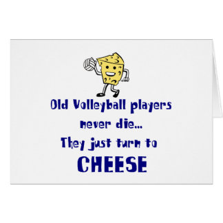 VolleyChick s Cheese Greeting Cards