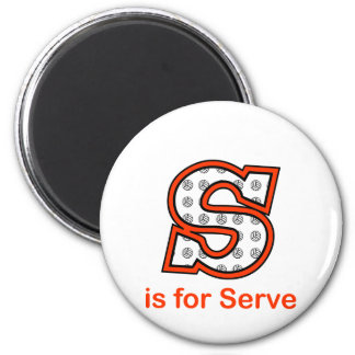 VolleyChick S is for Serve Magnet