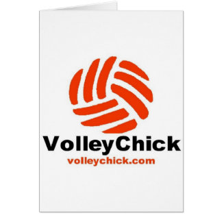 VolleyChick s Logo Greeting Cards