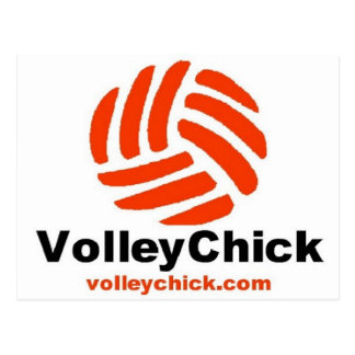 VolleyChick s Logo Post Card