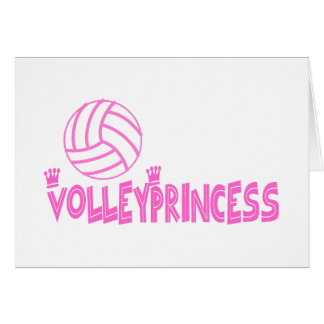 VolleyChick s Princess Greeting Card