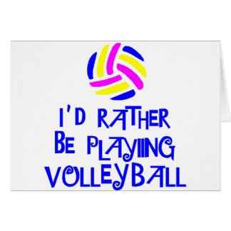 VolleyChick s Rather Greeting Card