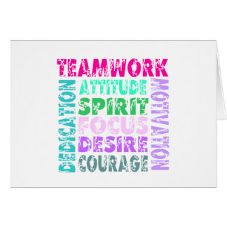 VolleyChick s Teamwork Greeting Card