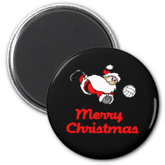 VolleyChick Santa Digs Merry Christmas Magnet