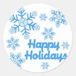 VolleyChick Snowflake Round Sticker