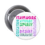 VolleyChick Teamwork 2 Inch Round Button