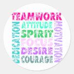 VolleyChick Teamwork Classic Round Sticker