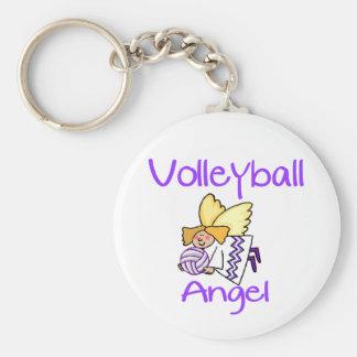 VolleyChick VB Angel Basic Round Button Keychain