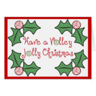 VolleyChick Volley Jolly Christmas Card