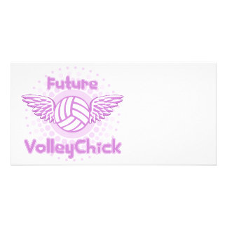 VolleyChick VolleyBaby FutureVC Personalized Photo Card