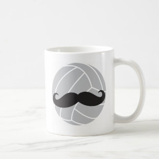 VolleyChick Volleyball Mustache Coffee Mug