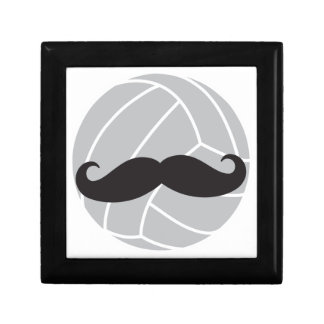 VolleyChick Volleyball Mustache Jewelry Box
