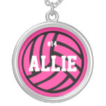 VolleyChick Volleyball Name Number Necklace