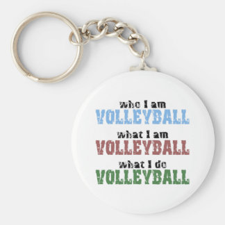 VolleyChick Volleyball Who What Keychain