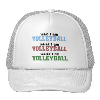 VolleyChick Volleyball Who What Trucker Hat