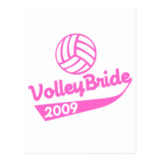VolleyChick VolleyBride Post Card