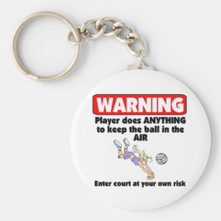 VolleyChick Warning Keychain