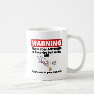 VolleyChick Warning Coffee Mugs