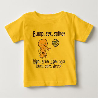 VolleyChick's Bump Set Spike Baby T-Shirt