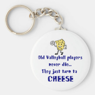 VolleyChick's Cheese Keychain