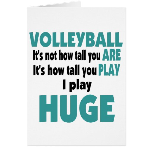 VolleyChick's Huge Greeting Card