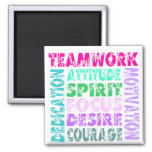 VolleyChick's Teamwork 2 Inch Square Magnet