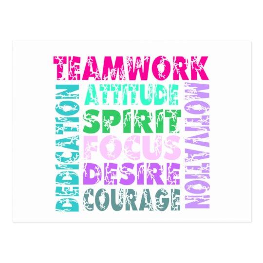 VolleyChick's Teamwork Postcard