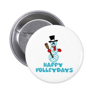 VolleyChickSnowmanHappyVolleydays Pins