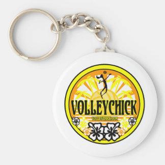 VolleyChickSunshine Keychain