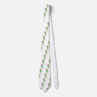VOLLEYGIRL GREEN BRUNETTE NECK TIE