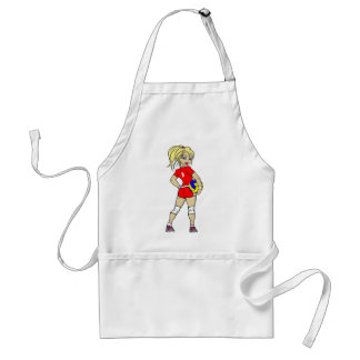 VOLLEYGIRL RED BLONDE ADULT APRON