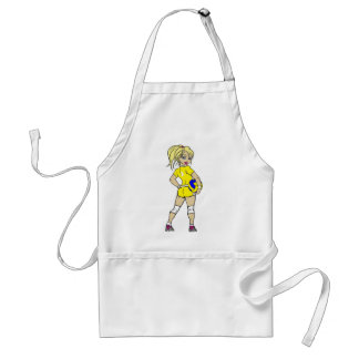 VOLLEYGIRL YELLOW BLONDE ADULT APRON