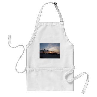 Vollyball Beach Sunset Adult Apron