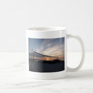 Vollyball Beach Sunset Coffee Mug
