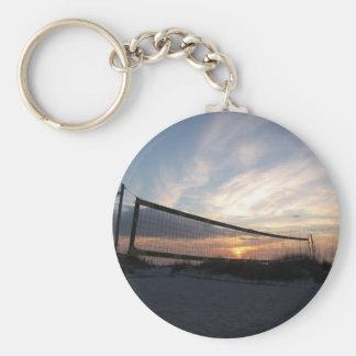 Vollyball Beach Sunset Keychain