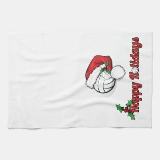 Vollyball Santa Holiday Kitchen Towel