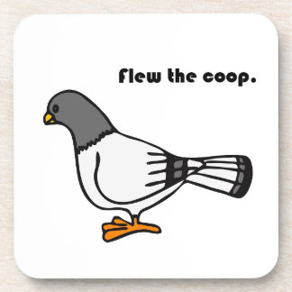 Voló el dibujo animado gris de la paloma del galli posavasos