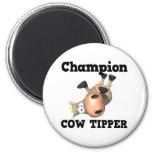 Volquete de la vaca del campeón imán de frigorífico