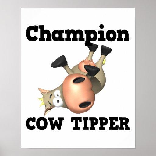 Volquete de la vaca del campeón póster