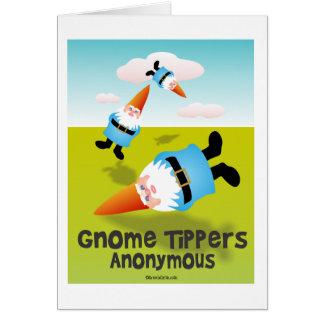 Volquetes del gnomo anónimos tarjeta pequeña