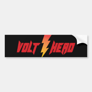 Volt Head - Lightening Bolt Bumper Sticker