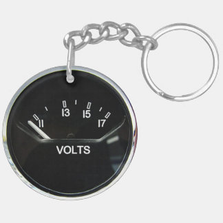 """""""Volt Meter"""" design gifts and products Acrylic Key Chain"""