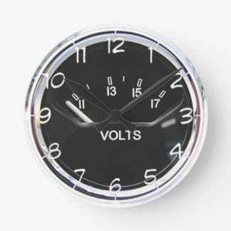 """Volt meter"" design wall clocks"